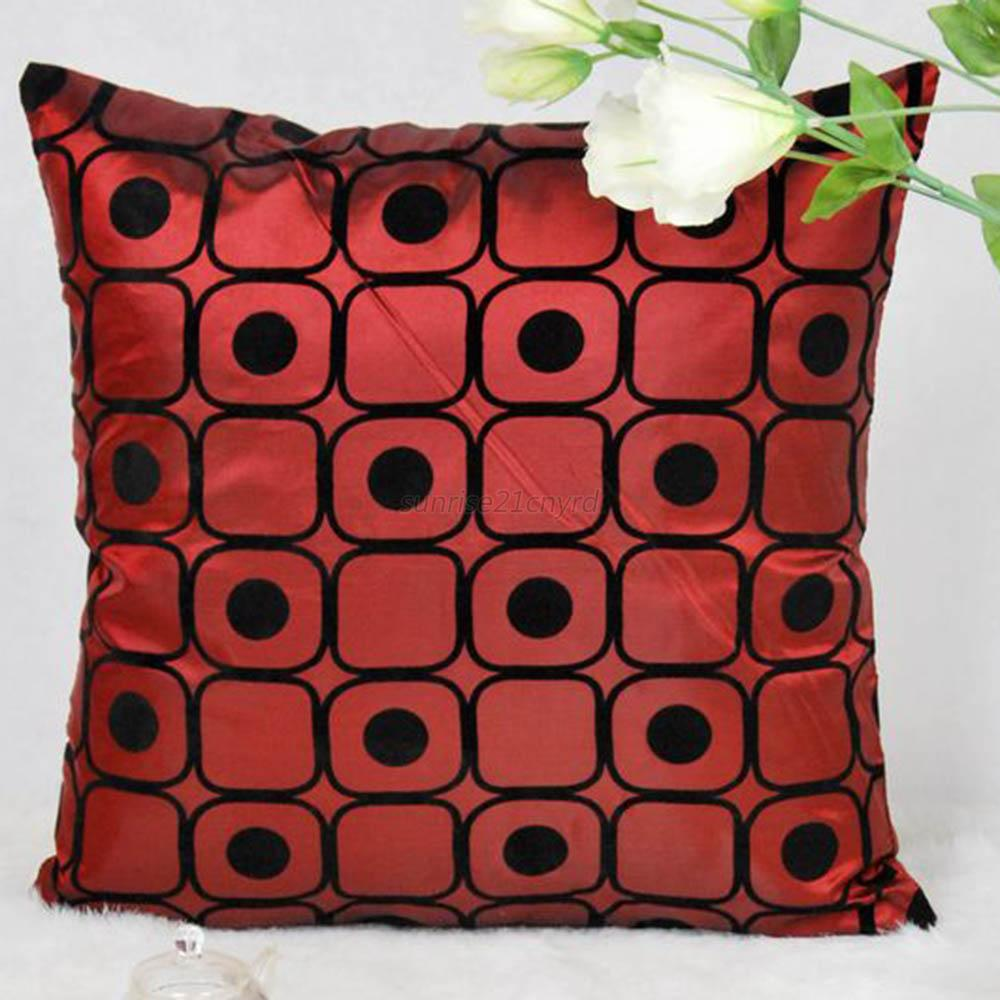 Square Bed Car Silk Soft Pillow Throw Case Cushion Cover Decorative Sofa Couch eBay