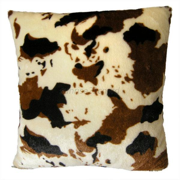 Home Decor Faux Fur Animal Print Square Cushion Covers