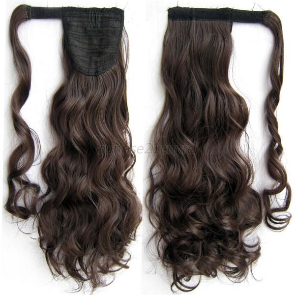 Stylish Beauty Pony Tail Wrap Around Clip In Ponytail Hair Extensions Curly U12