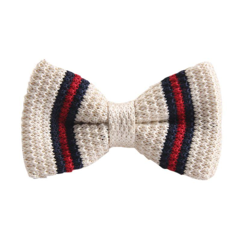 fashion pre bow tie striped knit knitted bowtie