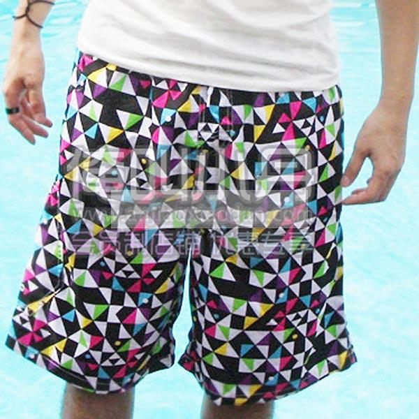 HOT Couples Summer Beach Surf Board Short Geometric Pants Women Men Swim Shorts