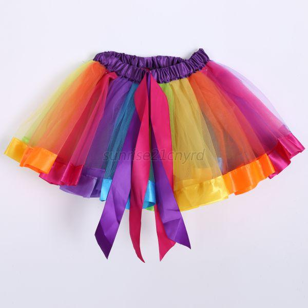 baby clothes rainbow ballet skirts
