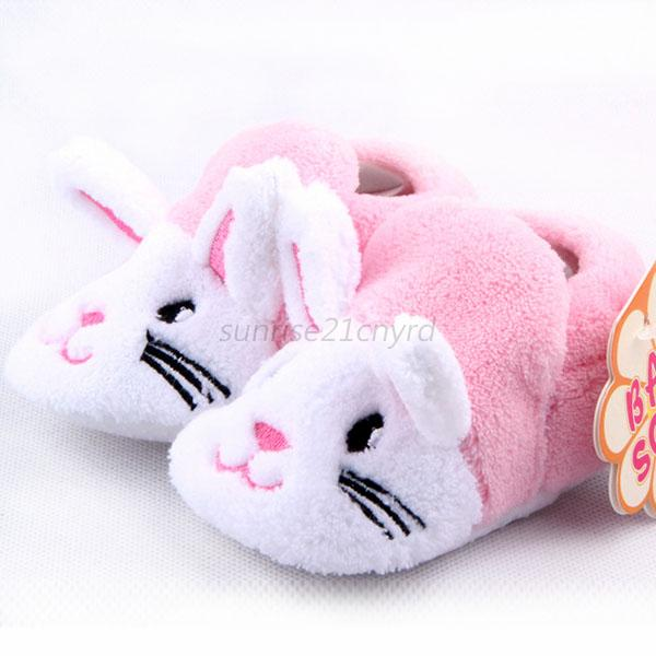 New Cute Baby Infant Cotton Shoes Boy Girls Animal Soft Sole Cozy Toddler Shoes