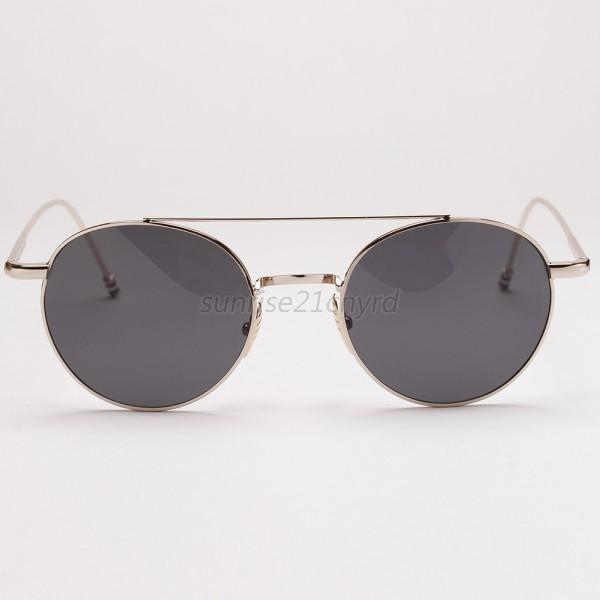 Round UV400 Mirrored Lens Retro Women Men Sunglasses Metal Frame Eyewear U99
