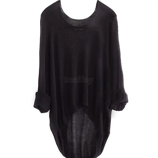 New Hot Womens Sweater Long Sleeve Pullover Jumper Casual Loose Knitwear Top T80