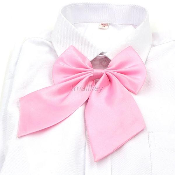 Fashion Women Girls Party Banquet Solid Color Adjustable Bow Tie Novelty Necktie