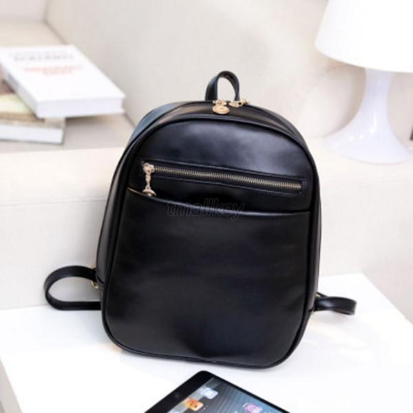 New Fashion Women Korean PU Leather Handbag Schoolbag Backpack Shoulder Bags T56