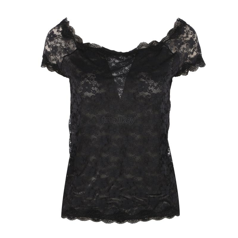 Sexy-Women-Short-Sleeve-Sheer-Embroidery-Floral-Lace-Crochet-T-Shirt-Top-Blouse