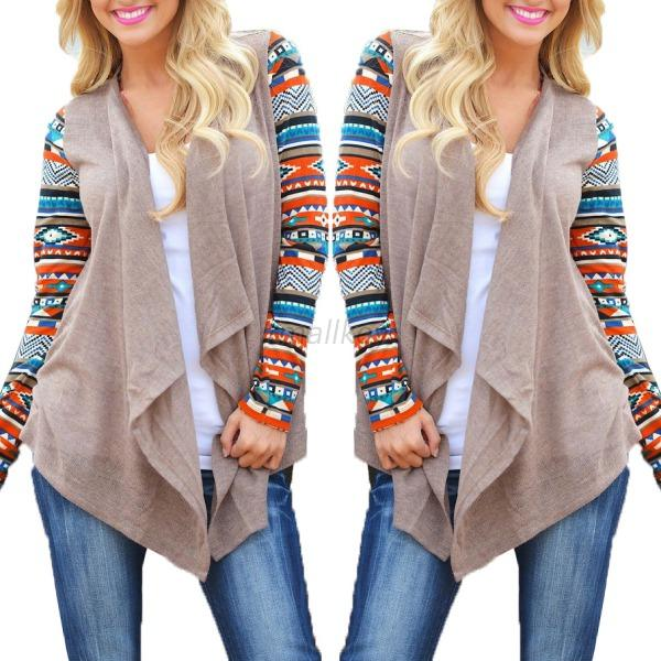 Women's Fashion Irregular Sweater Cardigan Long Sleeve Casual Knit Coat Outwear