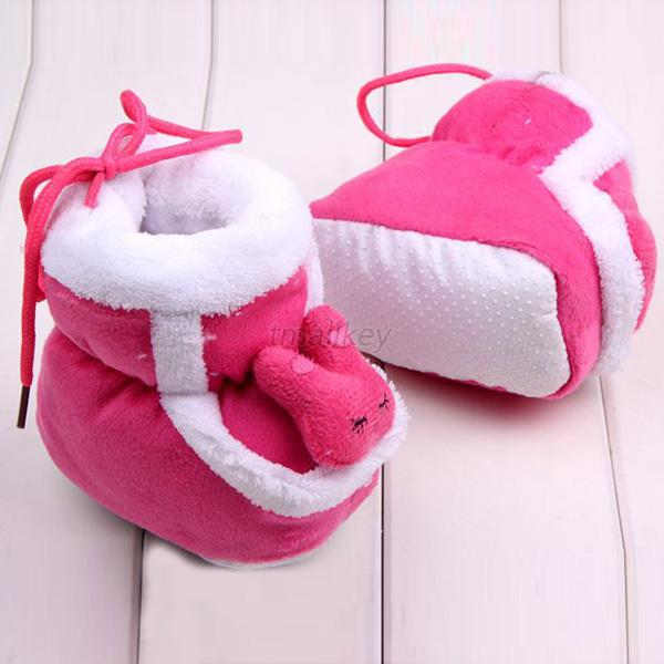 Infant Baby 3D Rabbit Cotton Boots Girl Boys Soft Crib Shoes Toddler Booties T39