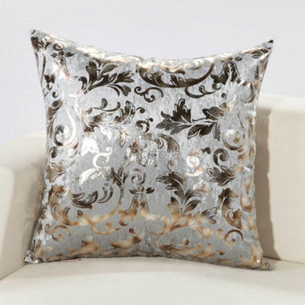 Luxury Silk Throw Pillows : Luxury Shiny Sequin Metallic Silk Cushion Cover Home Decor Throw Pillow Case eBay