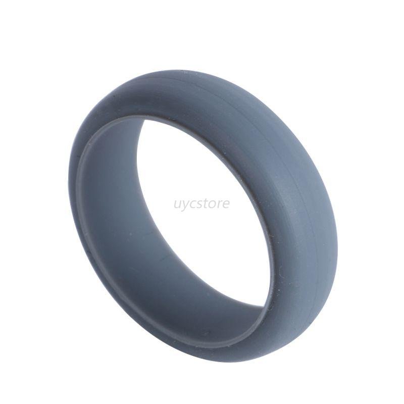 mens rubber silicone wedding ring band