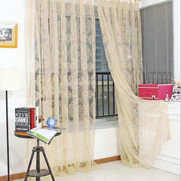 Pastoral-Style-Flower-Tulle-Balcony-Curtain-Panel-Sheer-Scarfs-Window-Screen-U13