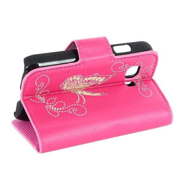 Trendy Faux Leather W/Stand Flip Case Cover For Samsung GALAXY Young 2 G130H U84