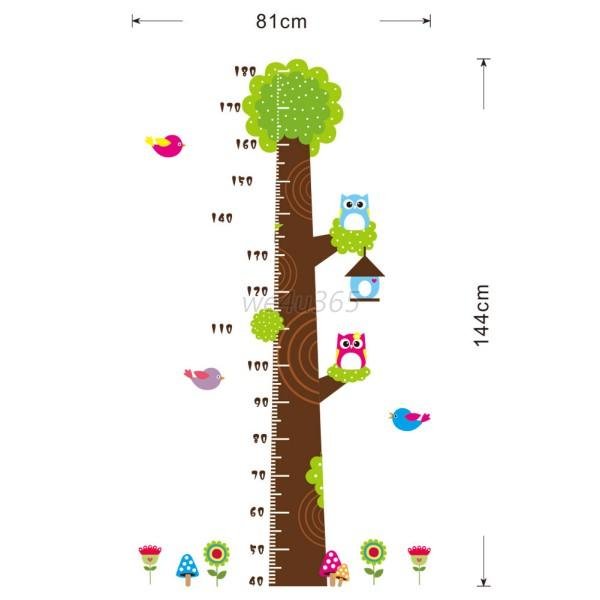 toddler baby large tree chart height measuring wall
