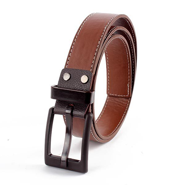 New-Unisex-Faux-Leather-Waist-Belt-Plastic-Buckle-Waistband-Strap-Belt-10-Colors