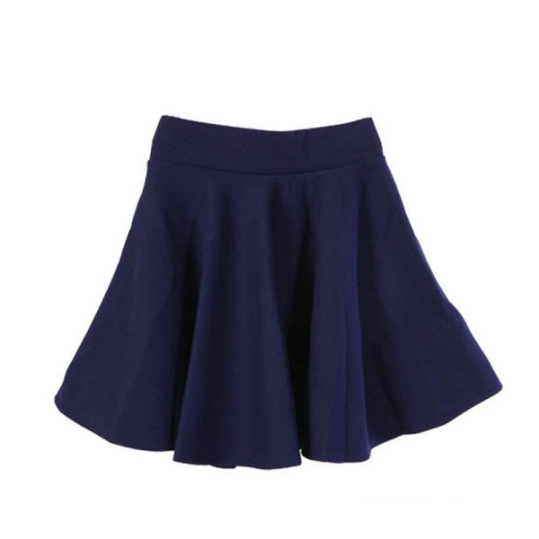Fashion Ladies High Elastic Waist Cotton Pleated Mini Skirt Short Dress OL Slim