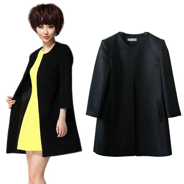 HOT Fashion Women Ladies  Wool Long Winter Parka Coat Trench Outwear Jacket S91