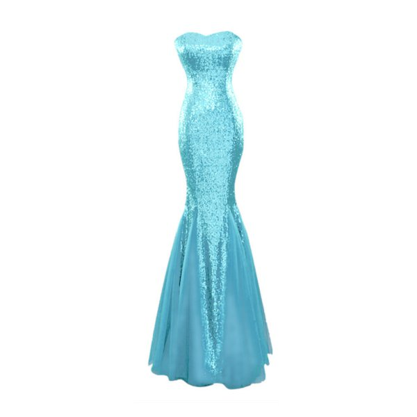 Long Evening Prom Party Wedding Fishtail Sequins Lace Dresses Pageant Ball Gown