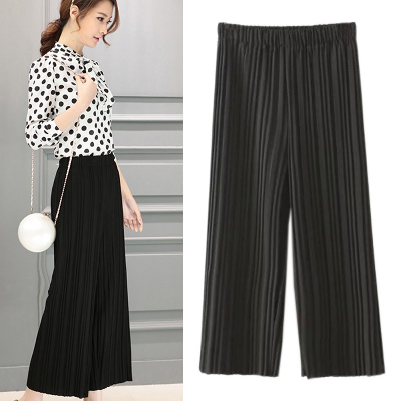 Cool  Pleated Pants OL Cropped Trousers Gauchoin Pants Amp Capris From Women