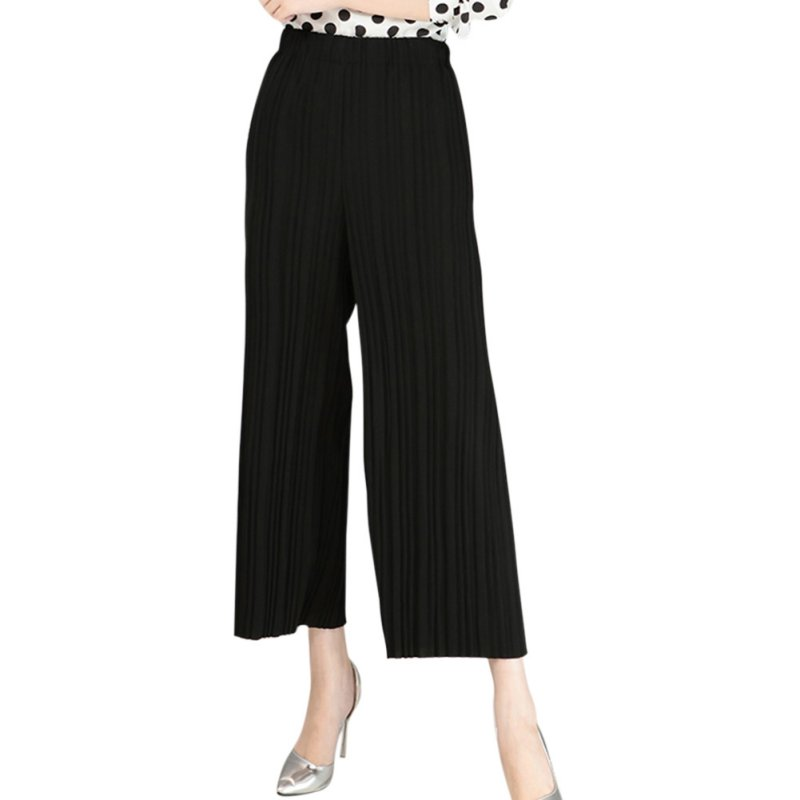 Beautiful Fashion Women39s Casual Pleated Chiffon Pants Elastic Waist Harem Pants