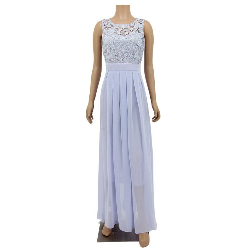 Women 39 s lace bridesmaid ball gown formal evening party for Shoes for maxi dress wedding